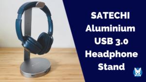 SATECHI アルミニウム USB ヘッドホンスタンド